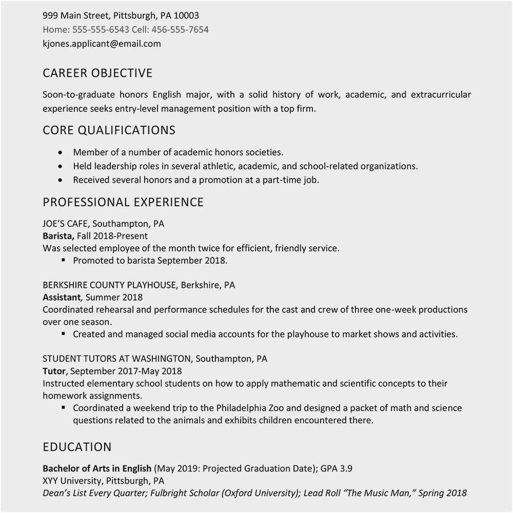 high school resume no experience