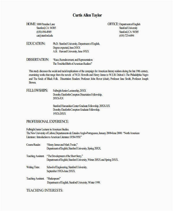 Lecturer Jobs Resume Sample for Freshers Fresher Lecturer Resume Templates 7 Free Word Pdf