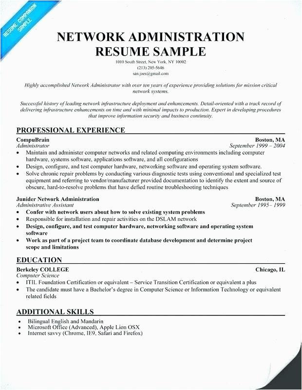 14 15 linux admin resume sample