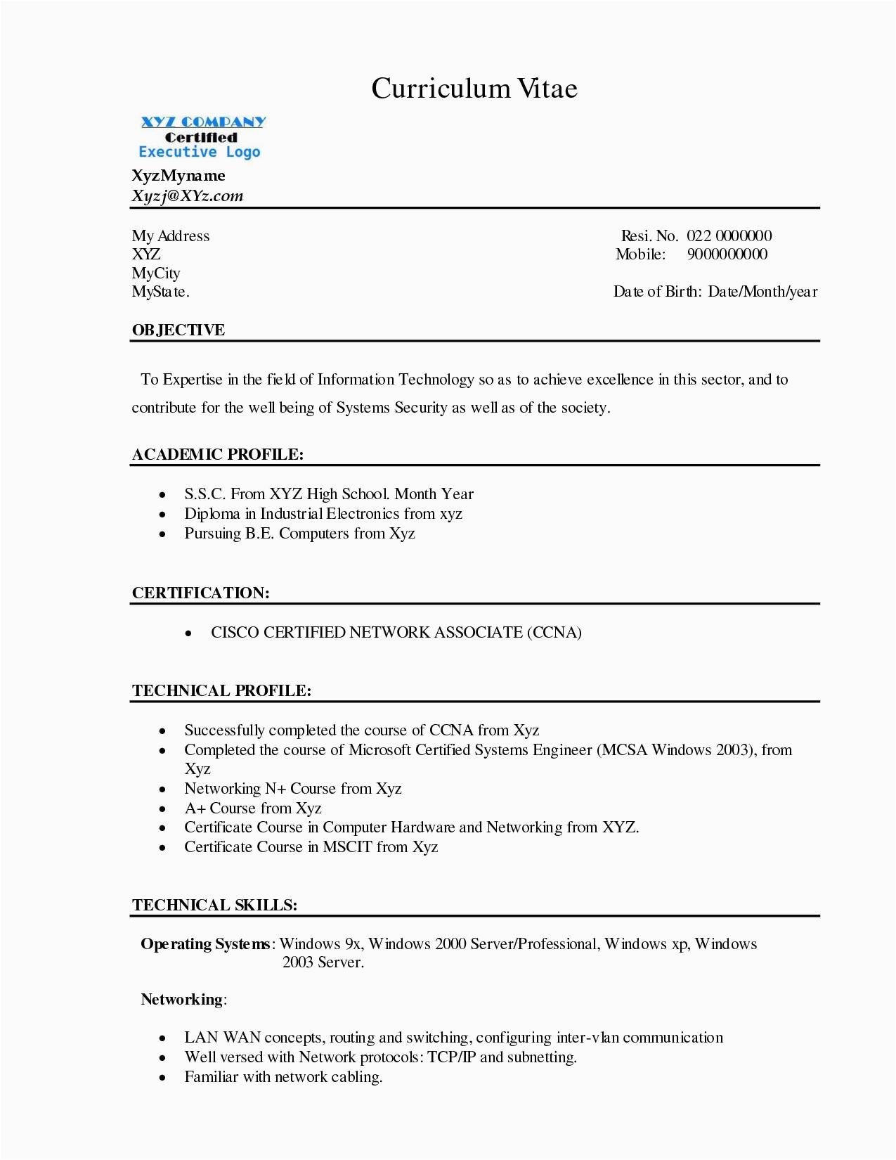 Linux Admin Resume Sample for Freshers Linux Admin Resume Sample – Salescvfo