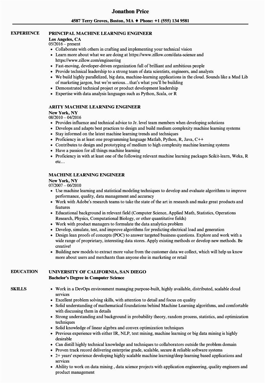 Machine Learning Sample Resume for Freshers Machine Learning Jobs for Freshers Quantum Puting