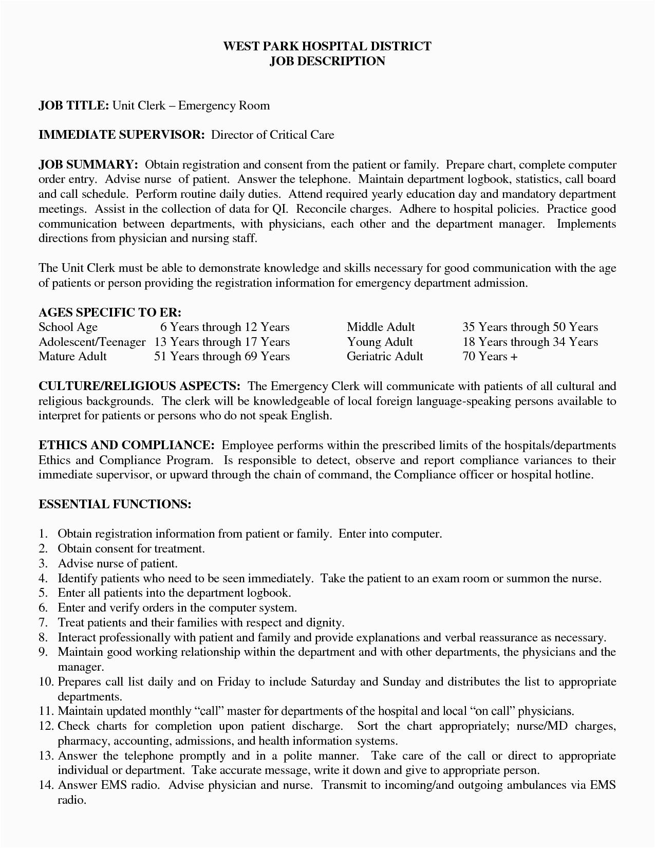 rn job description for resume 2577