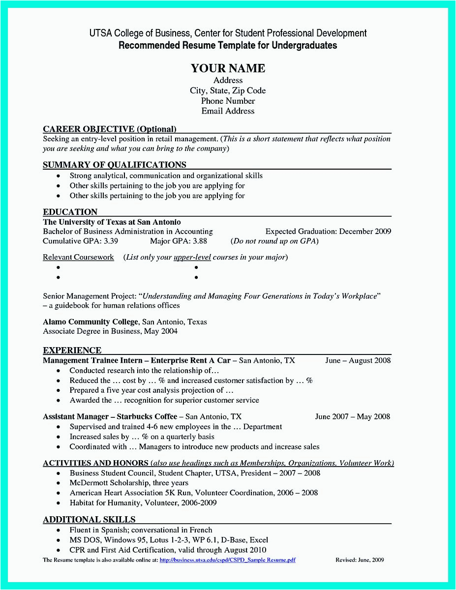 best college student resume example to job instantly