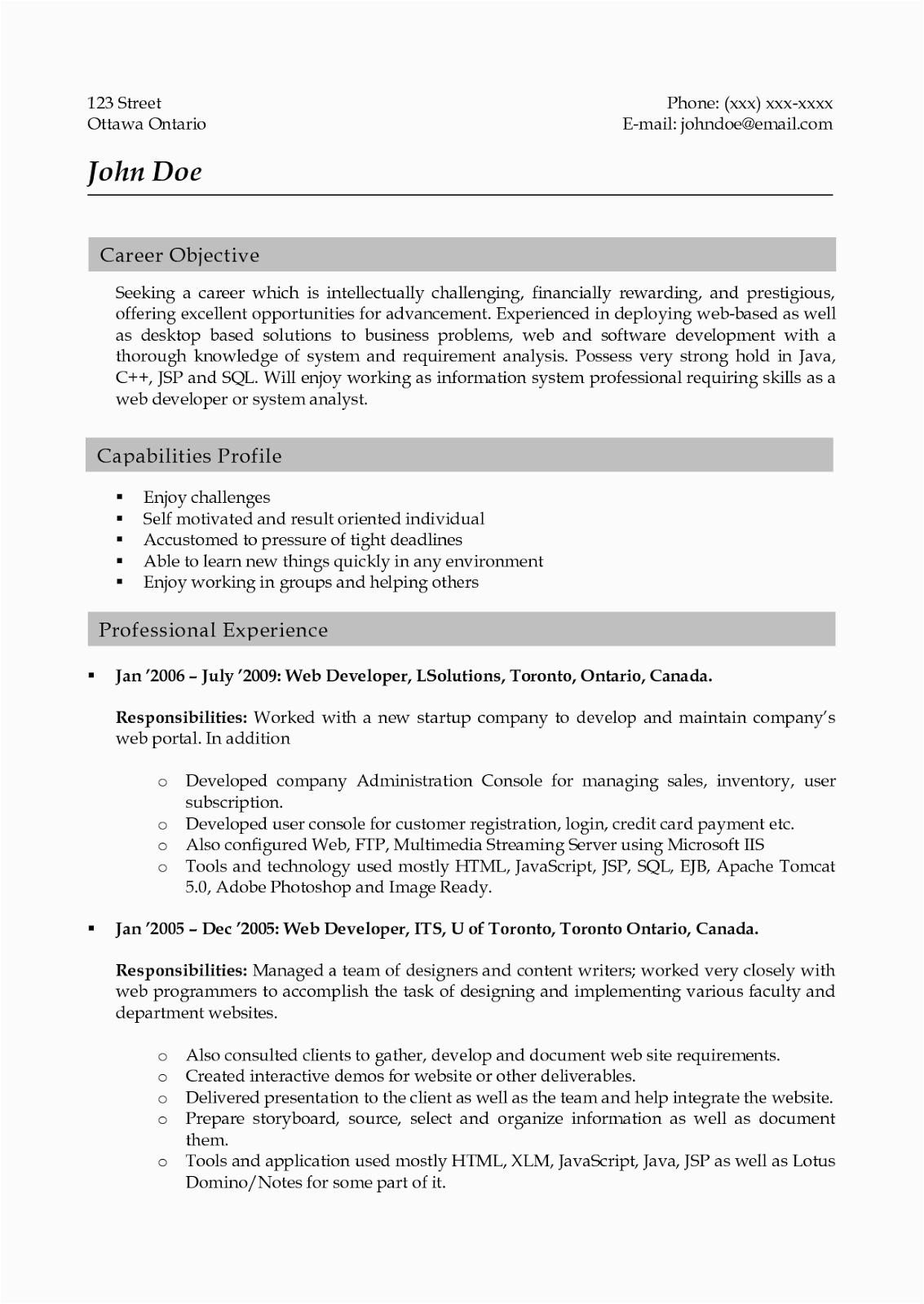 sample resume for web designer 5