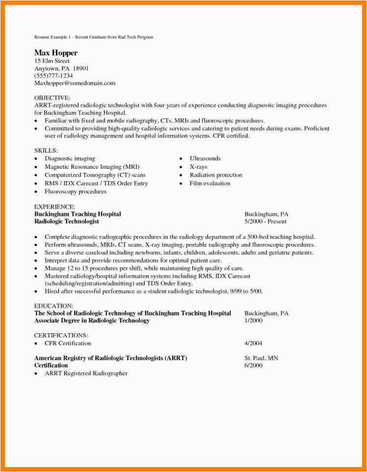 7 cover letter examples for radiologic technologist