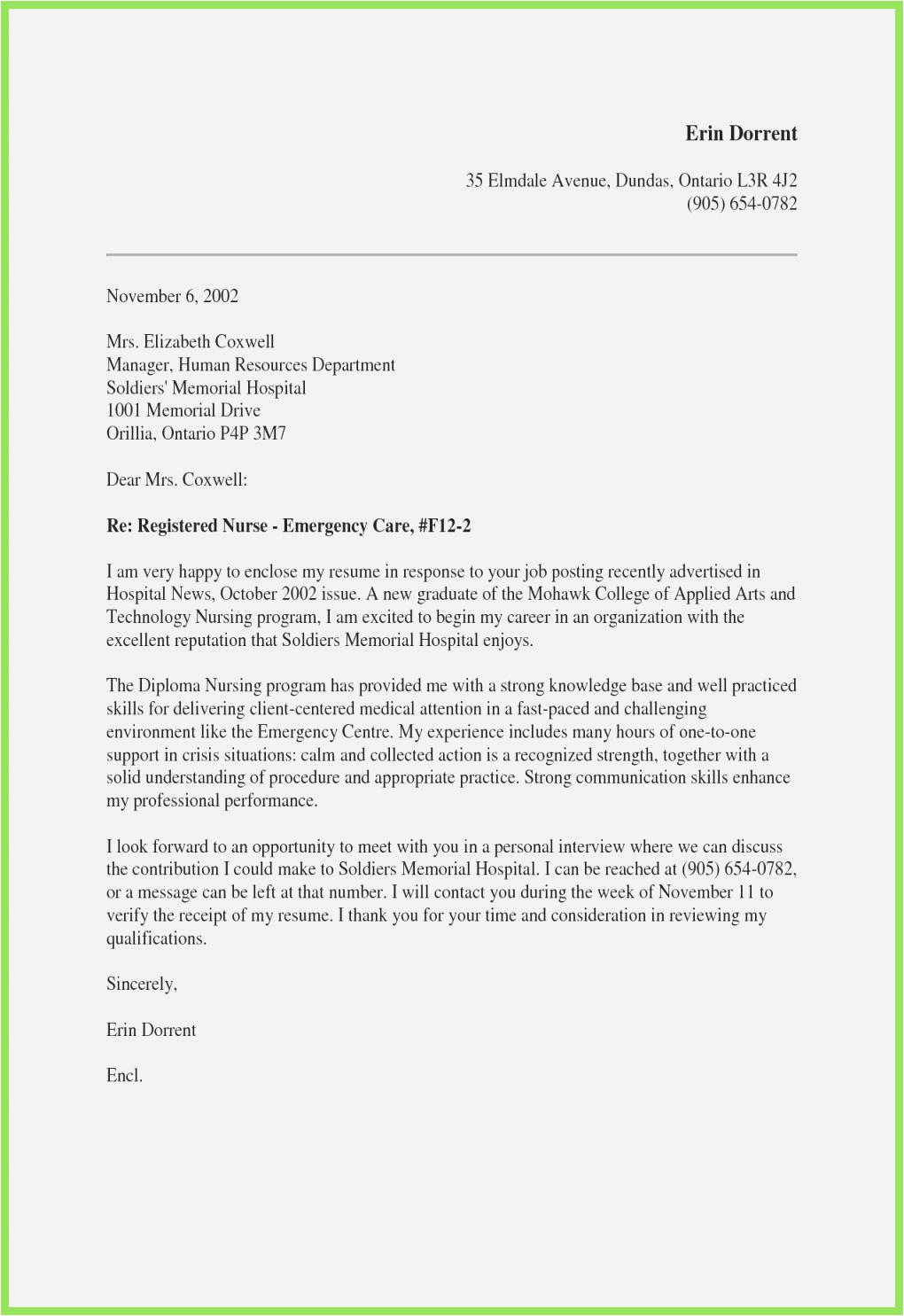 cover letter graduate nurse examples