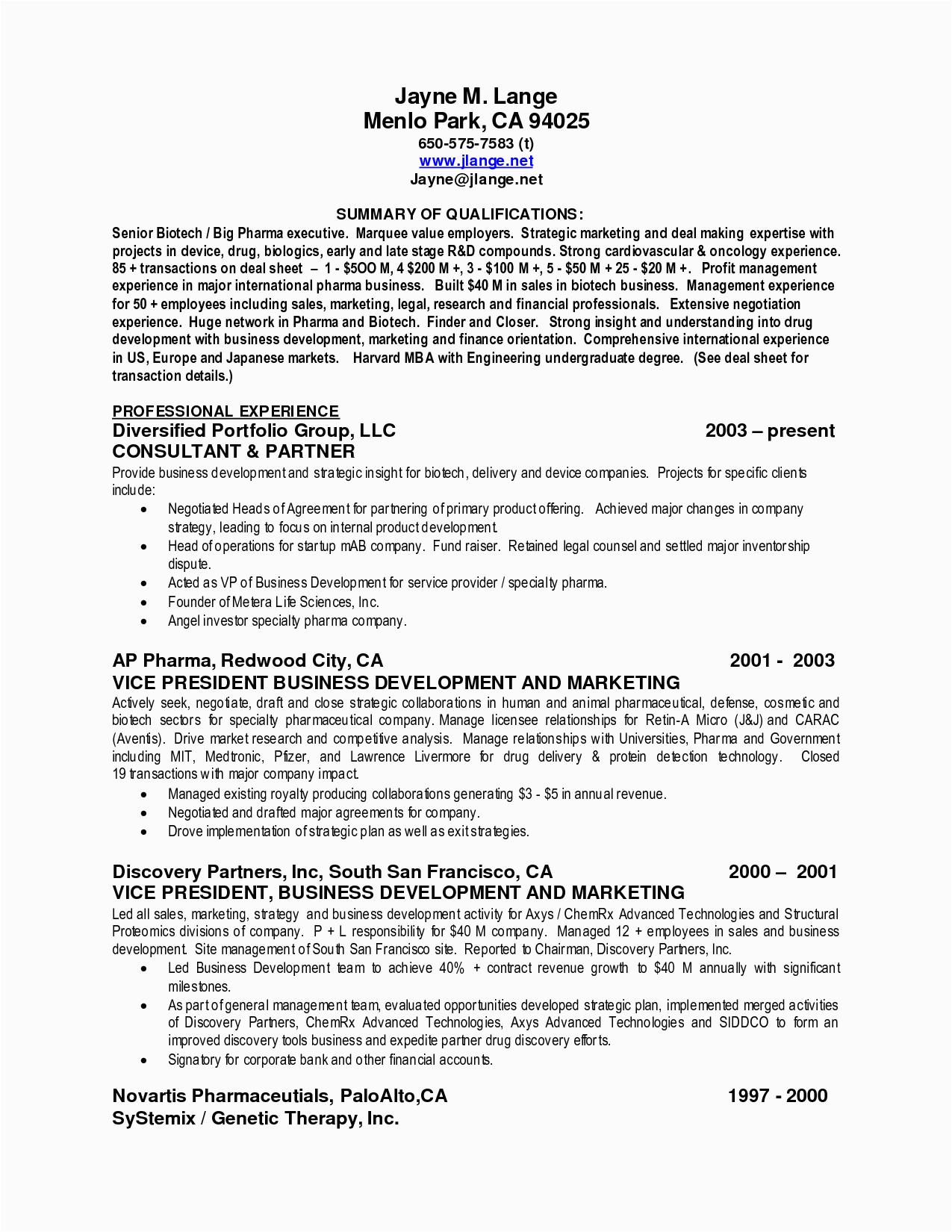 Sample Professional Resume Summary Of Qualifications Best Summary Of Qualifications Resume for 2016