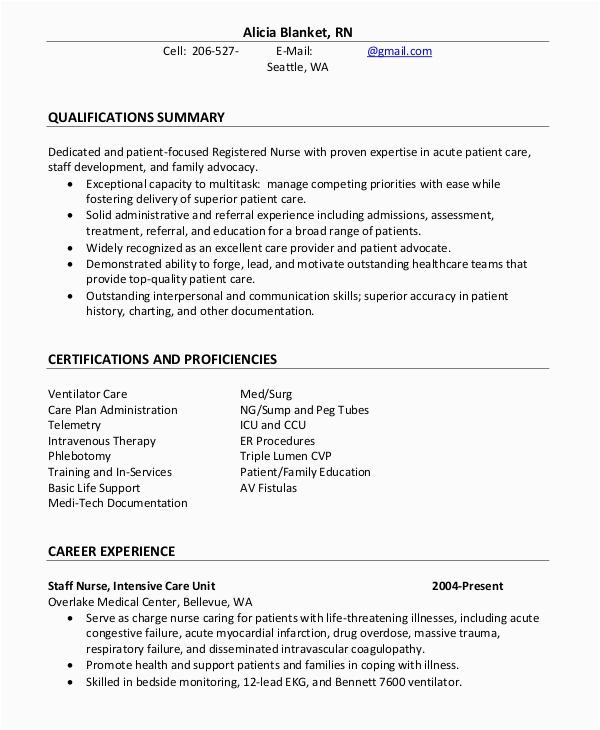 Sample Professional Summary for Nursing Resume Nursing Professional Summary Resume Example Best Resume