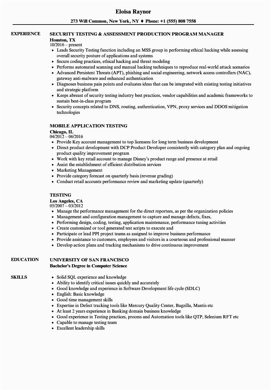 Sample Qa Tester Resume for Banking Domain Sample Qa Tester Resume for Banking Domain Best Resume