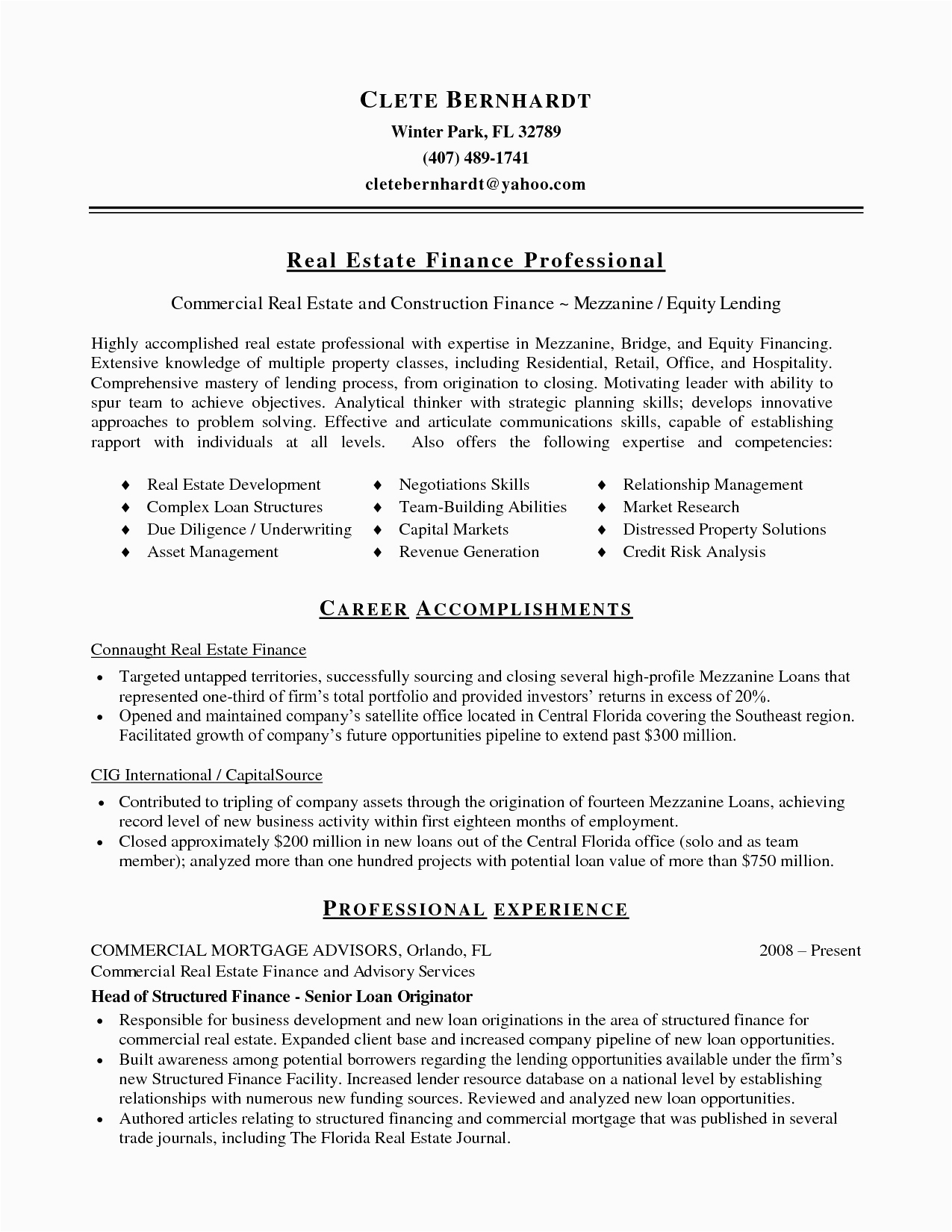Sample Real Estate Resume No Experience 11 12 Sample Real Estate Resume No Experience