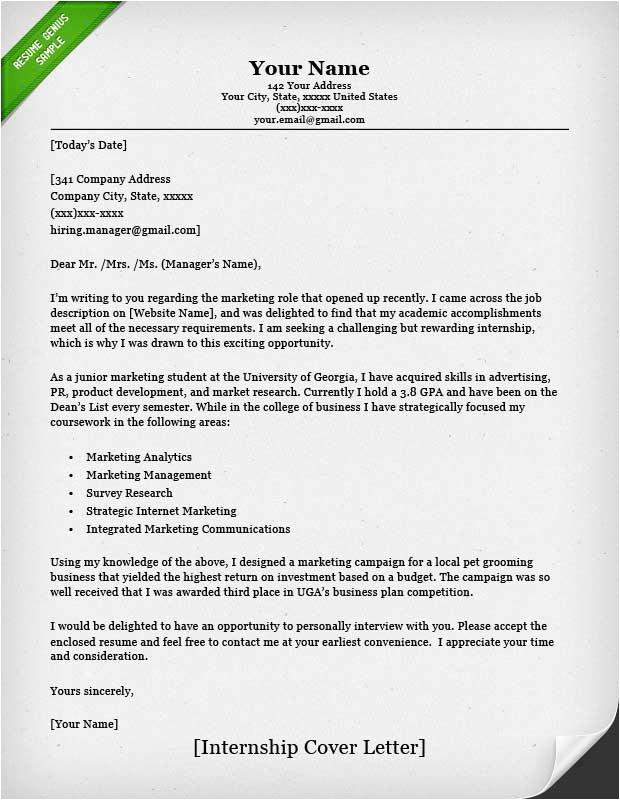 internship cover letter 3861