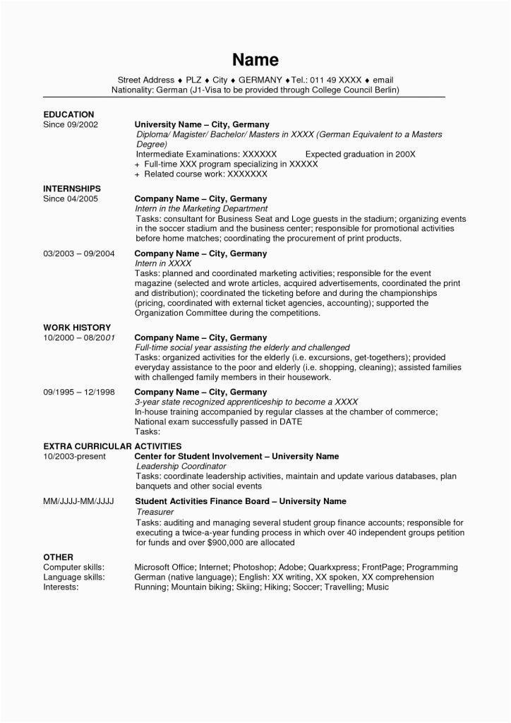 Sample Resume for Applying Ms In Us 45 Best Resume format In Usa 2021 Resume format In Usa