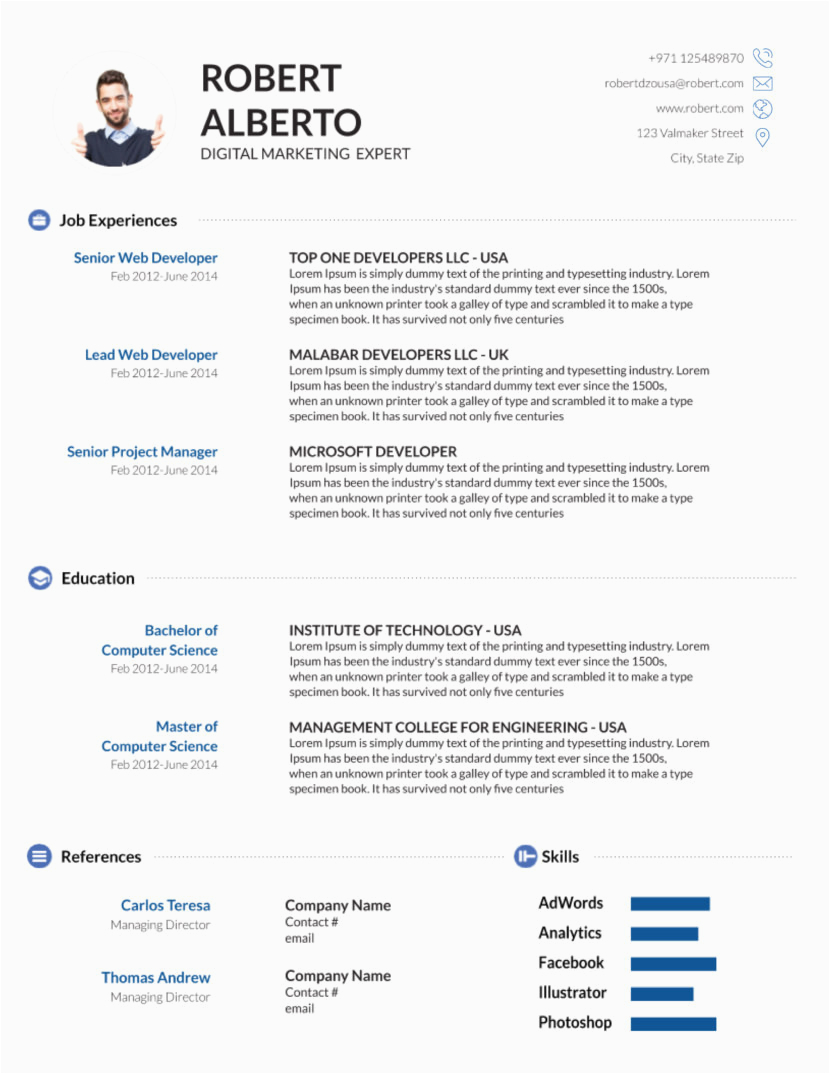 latest resume format in ms word
