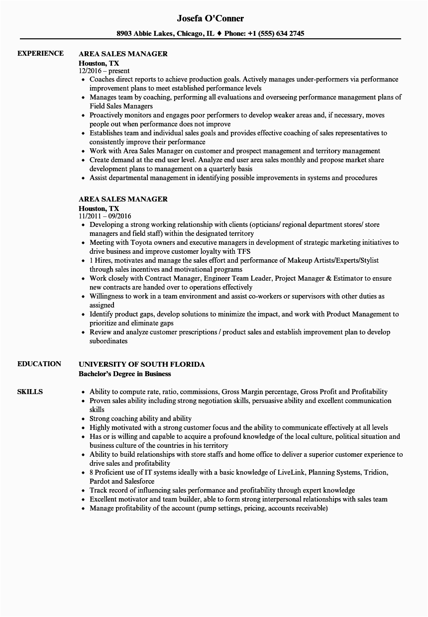 Sample Resume for area Sales Manager In Fmcg Awesome area Sales Manager Fmcg Resume Sample Addictips