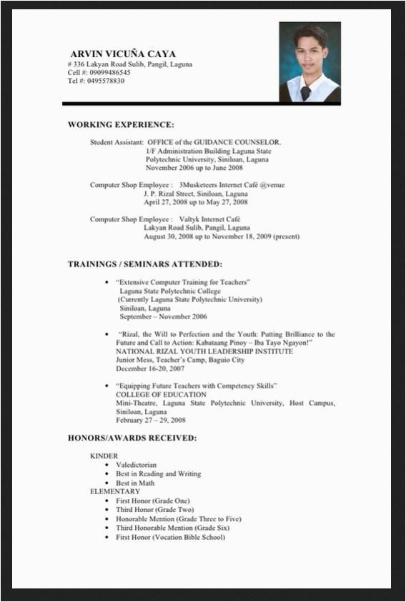 33 info graduate cv example pdf