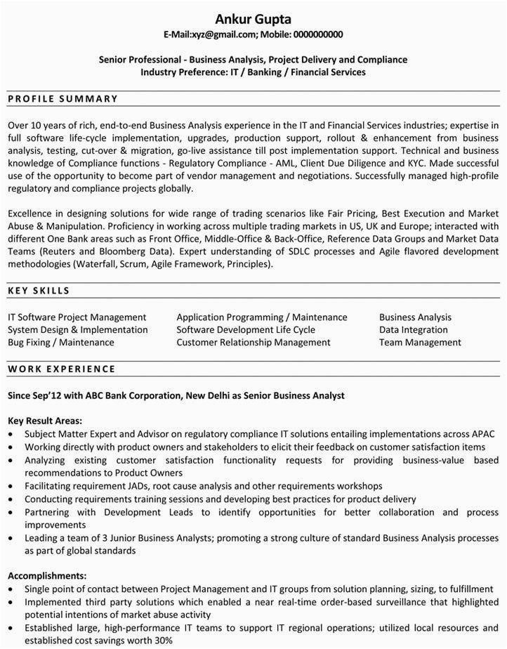 resume format for data analyst fresher