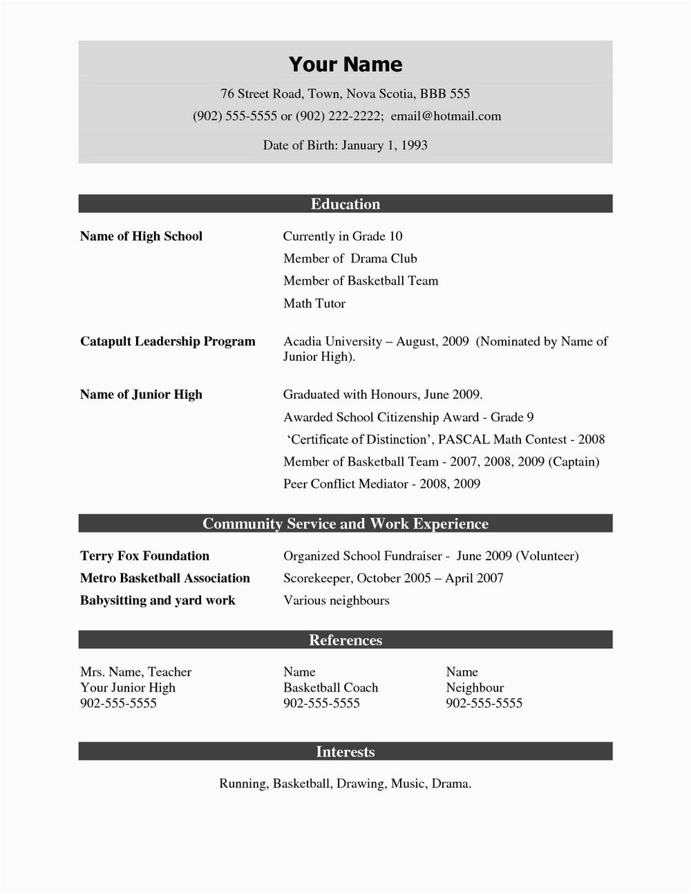 resume format for experienced free pdf