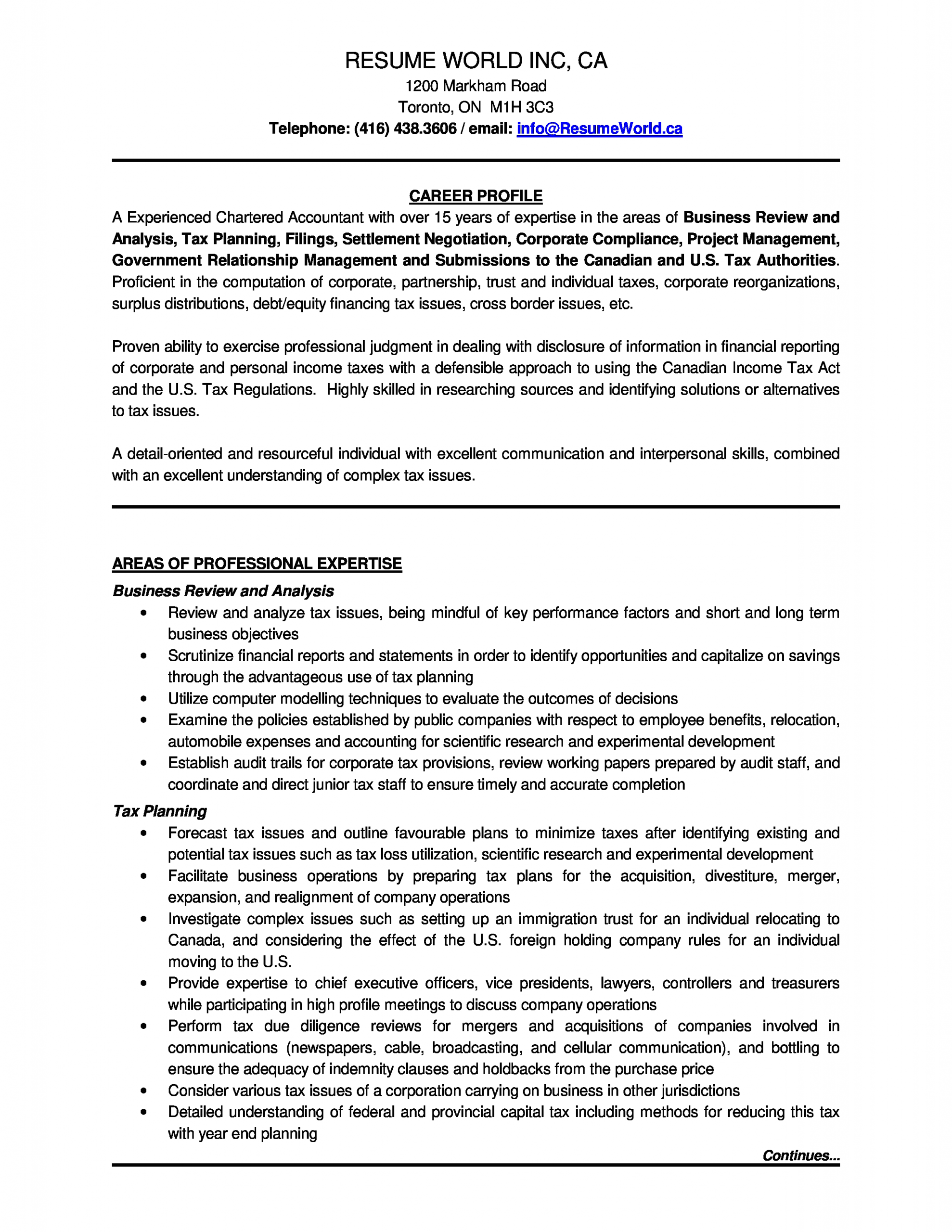 Sample Resume for Experienced Chartered Accountant Experienced Chartered Accountant Resume How to Draft An