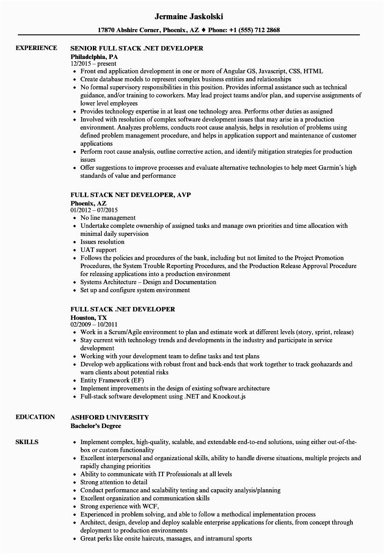 full stack java developer resume