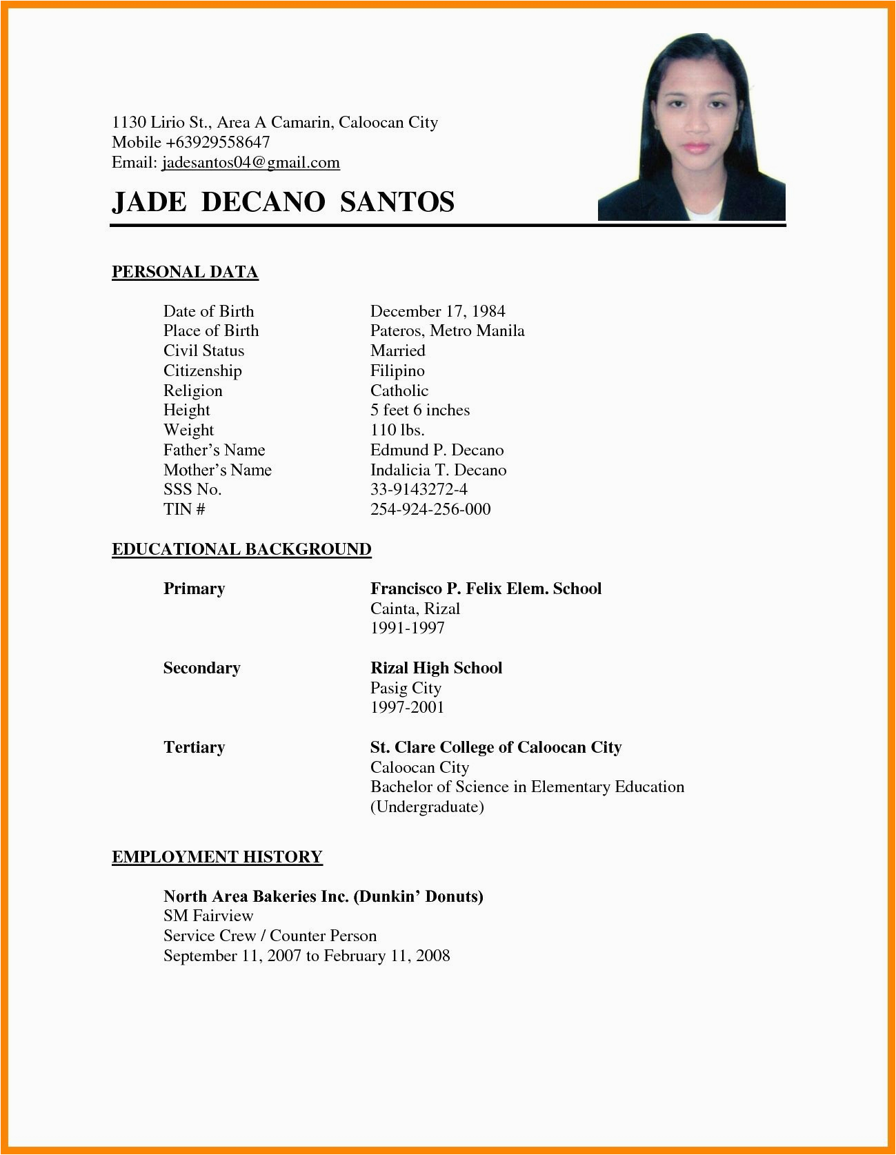 Sample Resume for Job Application Abroad Work Abroad Resume format for Abroad Job Best Resume