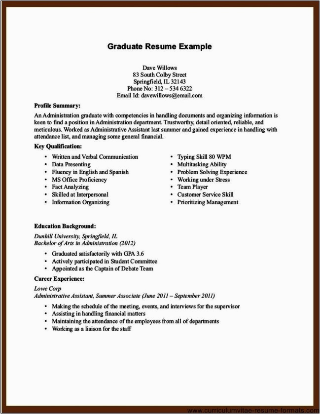 office assistant resume no experience