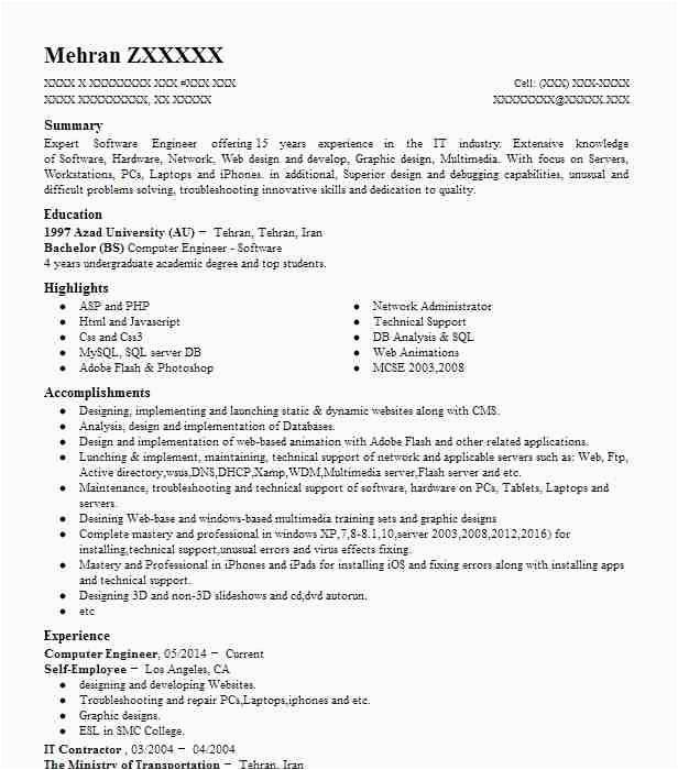 Sample Resume for Ojt Computer Engineering Students Puter Engineer Resume Samples Resume format