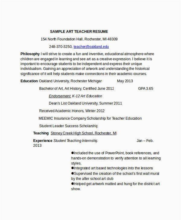 preschool teacher resume pdf