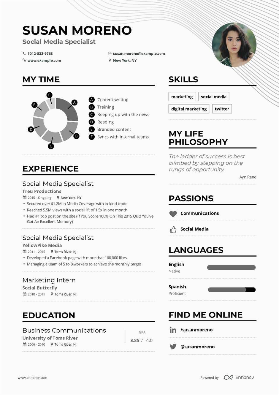 Sample Resume for social Media Specialist social Media Specialist Resume Example and Guide for 2019