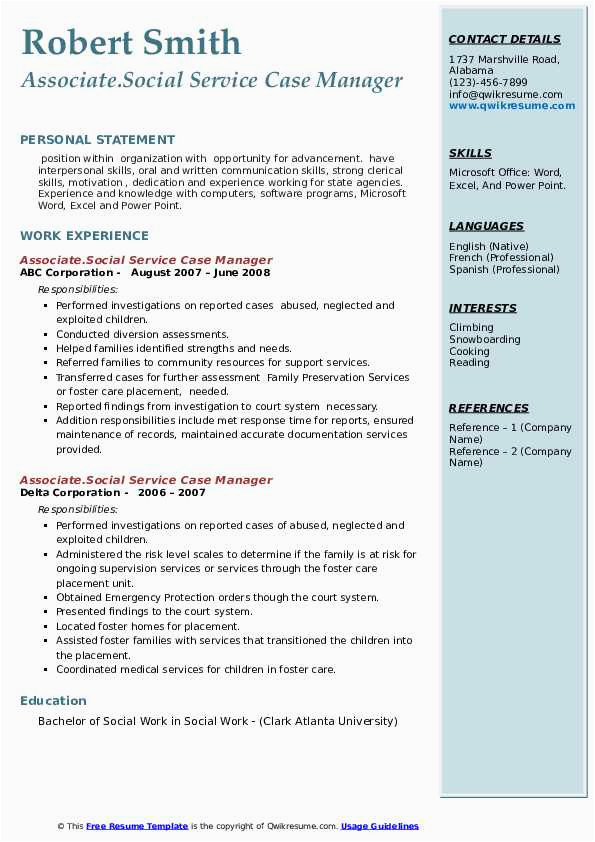 social service case manager