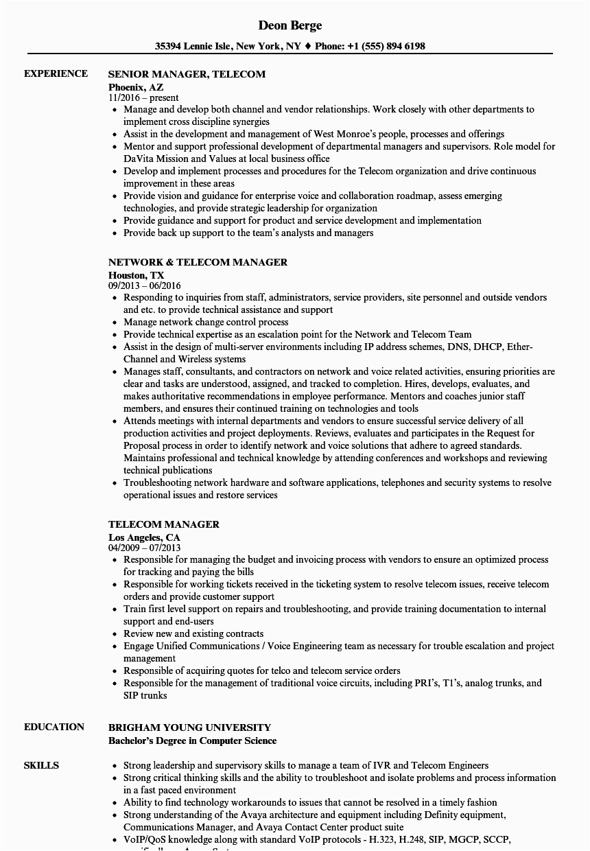 tele munication engineer cv template
