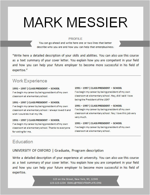 Sample Resume Hockey Player Profile Template Free Resume Template Design 561 to 567 • Get A Free Cv