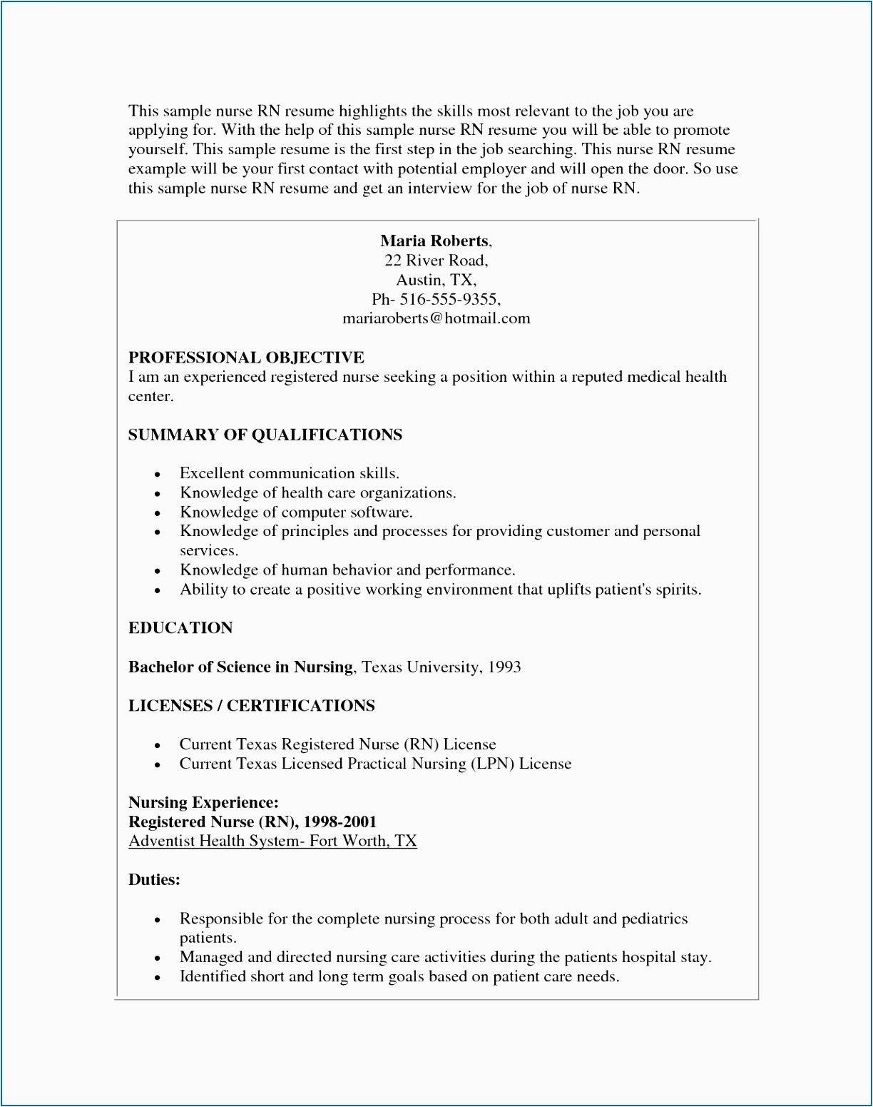 lpn resume sample long term care