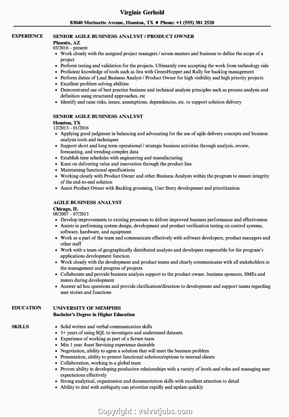 Sample Resume with Agile Experience for Testing Make Sample Resume with Agile Experience Agile Business