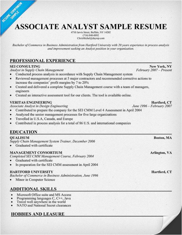 associates degree resume