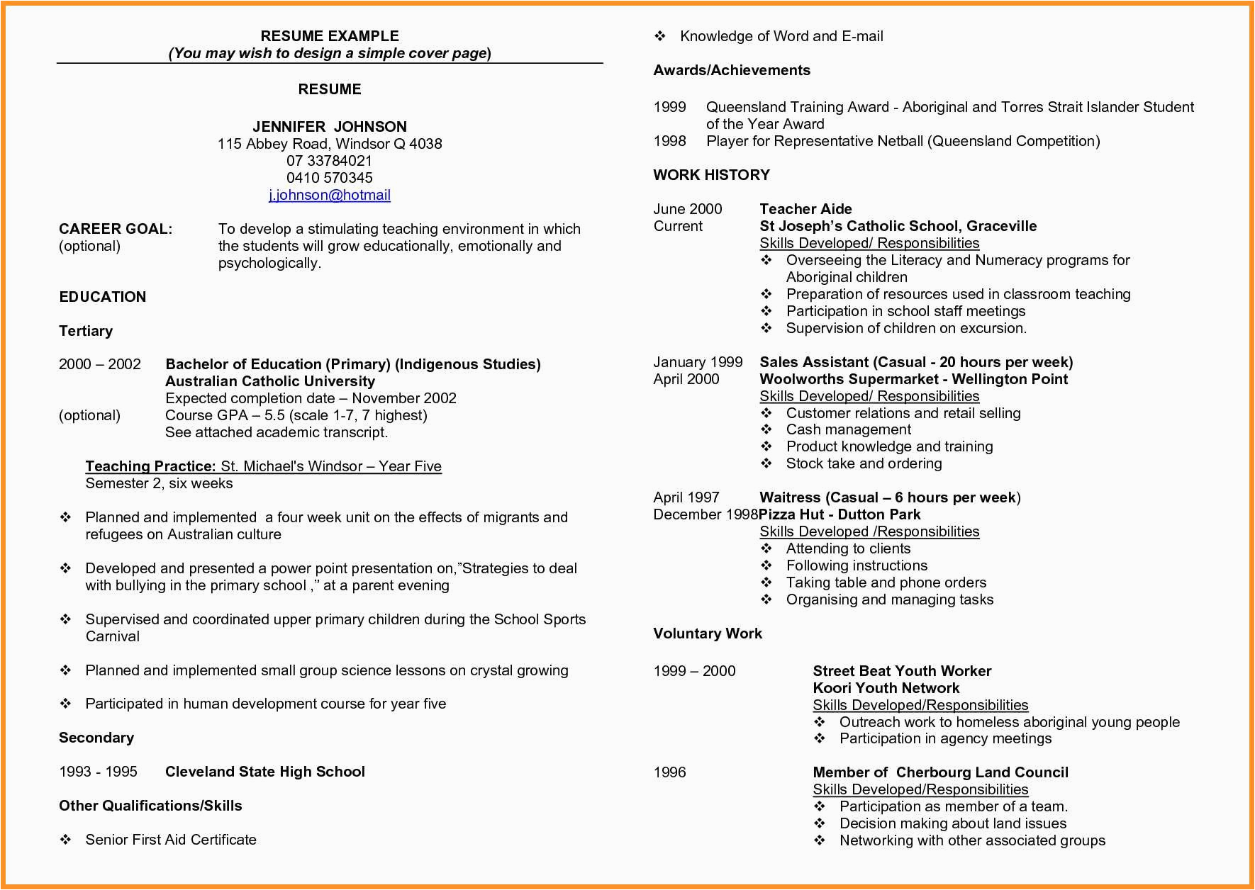 awards and achievements in resume