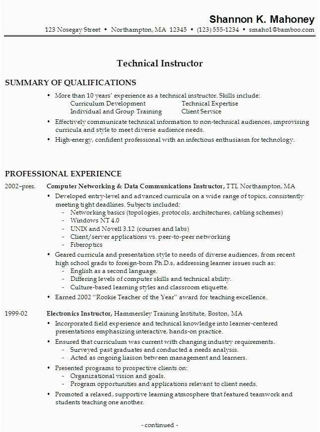 Sample Resume with Diverse Work Experience Resume Work Experience Samples