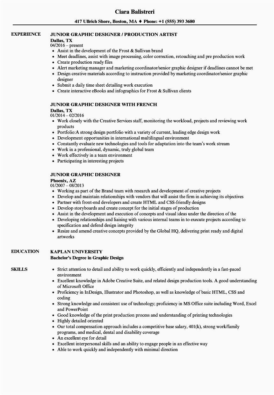 entry level graphic design resume