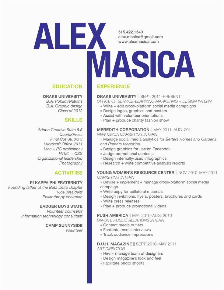 graphic design resume examples 2017