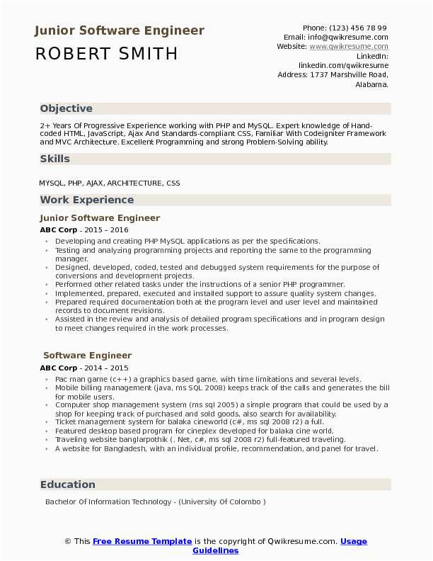 the best mba application resume sample having 2 year experienced software