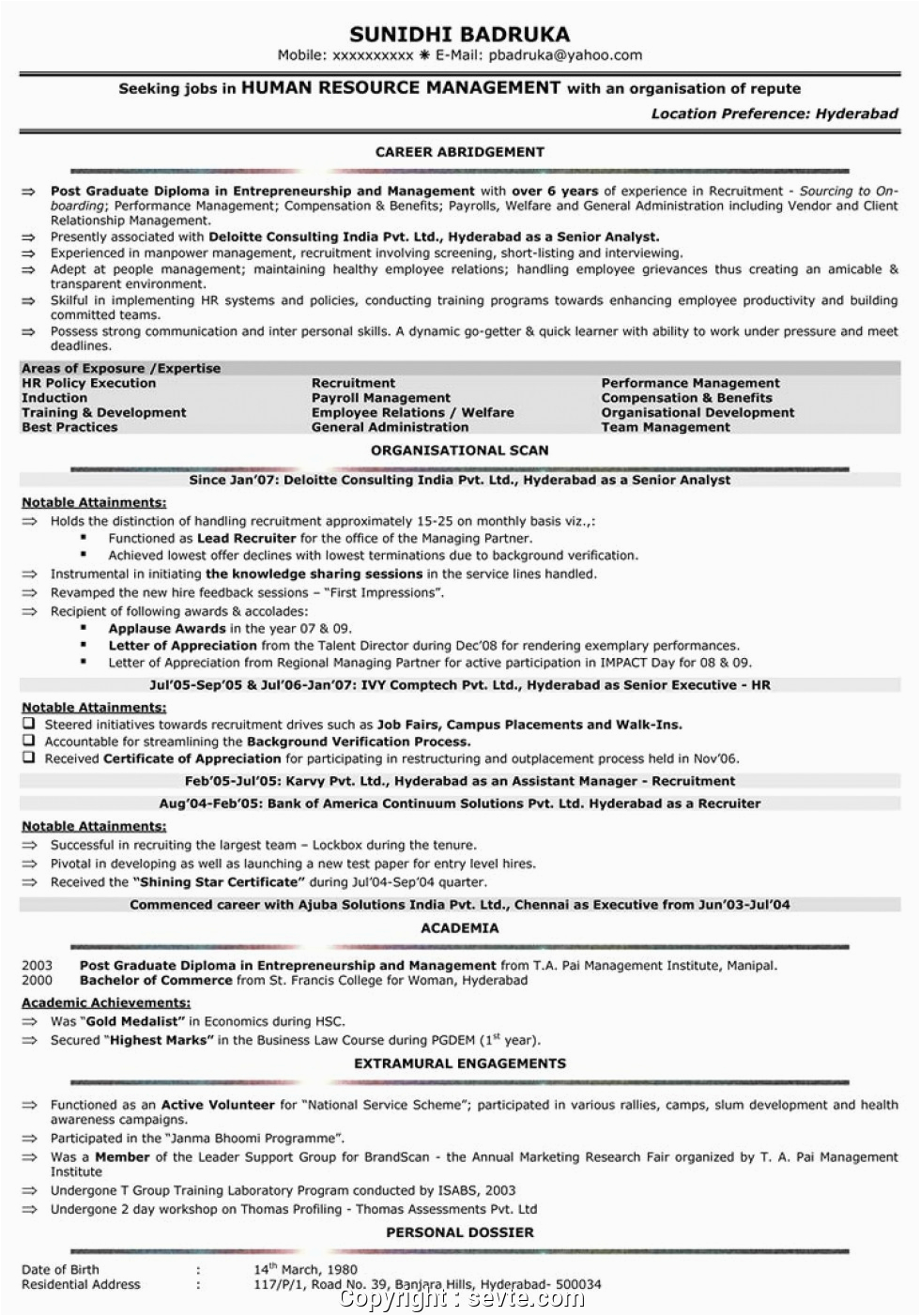 Mba Hr Resume Samples for Experienced Modern Mba Hr Resume Samples for Experienced Hr Resume