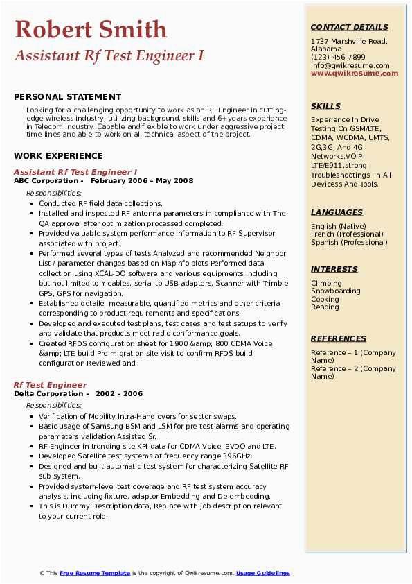 rf test engineer