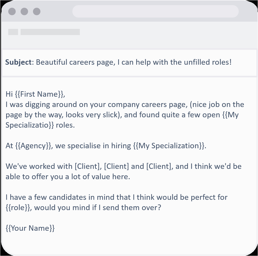 cold recruiting email templates that deliver 20 response rate
