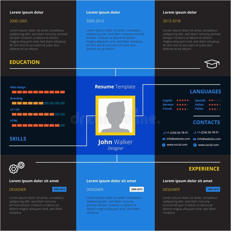 stock illustration resume design concept set flat portfolio job search interview recruitment positions vector illustration image