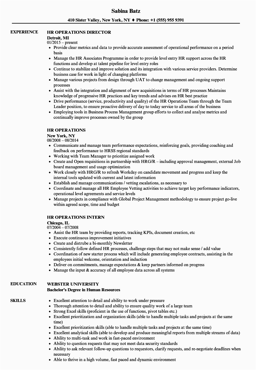 Resume For Bank Job In India