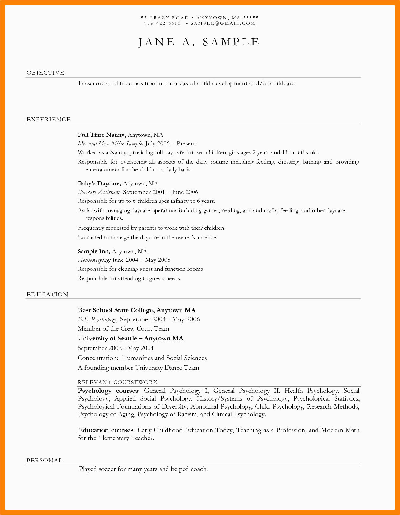 Sample Resume for Daycare Worker with No Experience Cover Letter for Daycare Worker No Experience