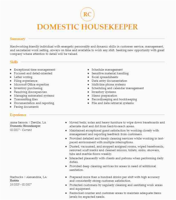 domestic worker sample resume for domestic helper abroad