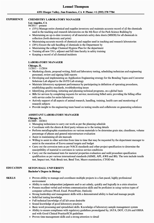 12 13 laboratory skills for resume