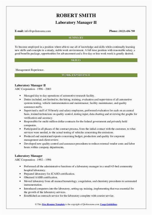laboratory manager