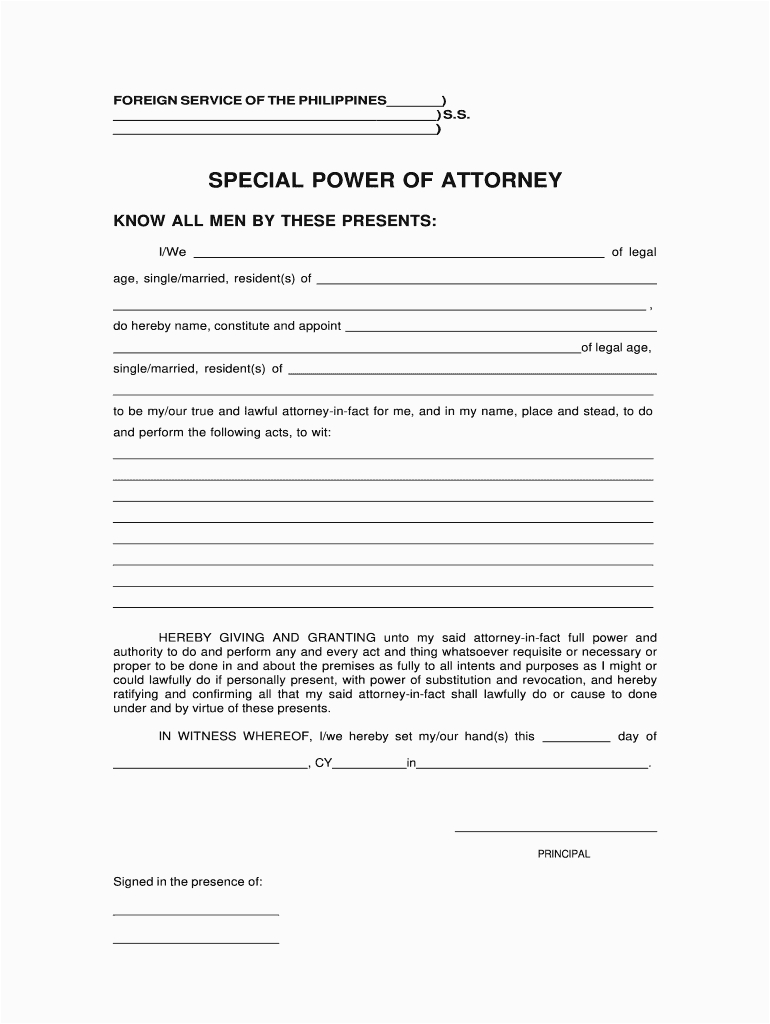 special power of attorney philippines