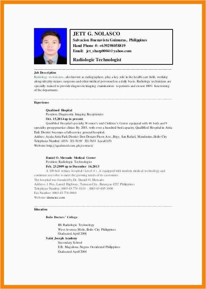 Sample Resume for Medical Technologist Fresh Graduate Fresh Graduate Medical Technologist Resume Make Room for